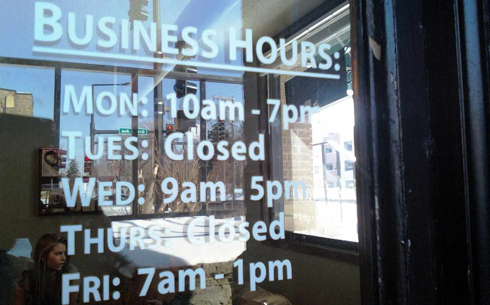 Hours Signs By Solv Signs Park City Heber City
